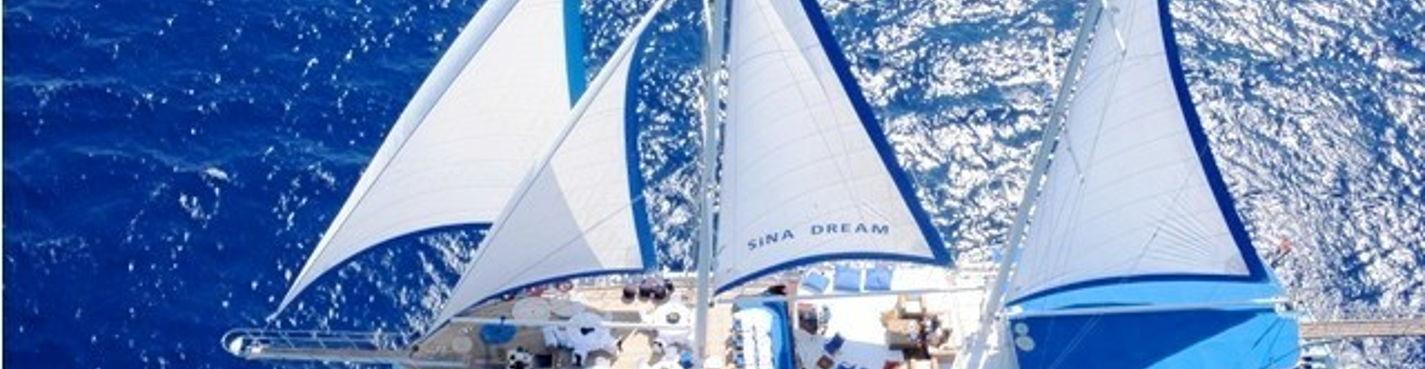 """Парусно-моторная яхта """"Sina Dream"""" — морская прогулка"""