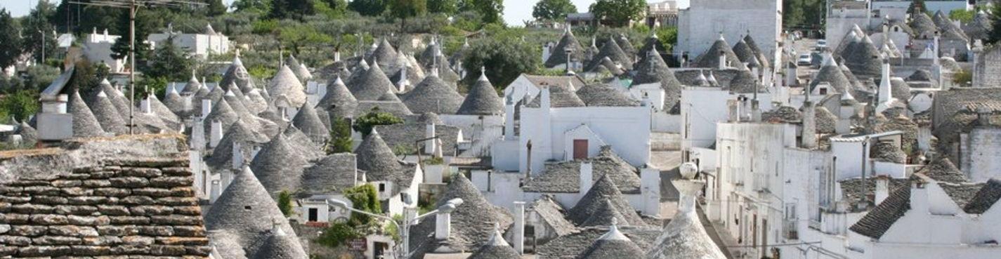 Сказочная Апулия — домики Трулли в г. Альберобелло.