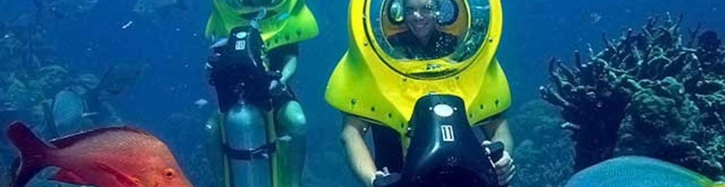 Трансфер на подводный мотоцикл