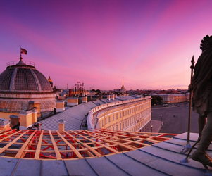 Roof top tour of St Petersburg