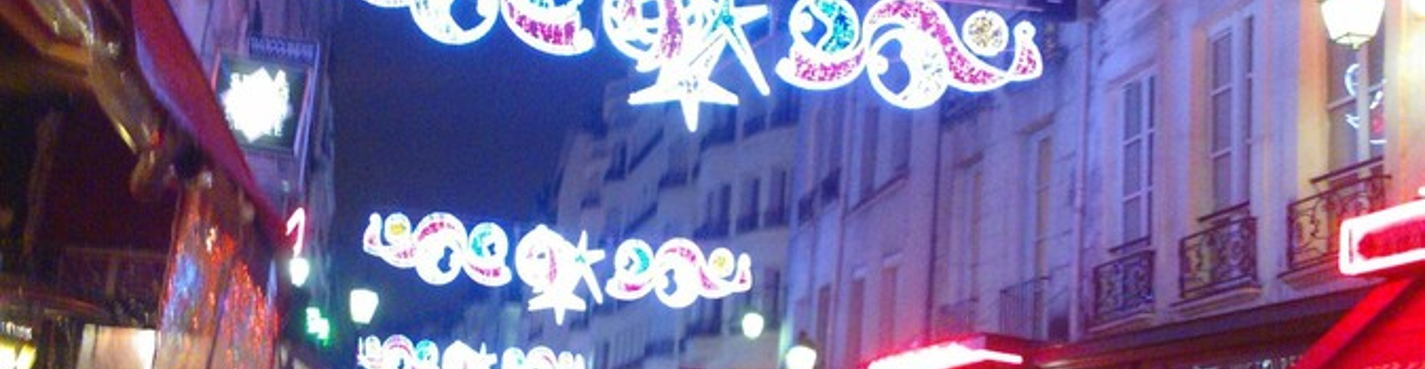 Рождественская иллюиминация Парижа