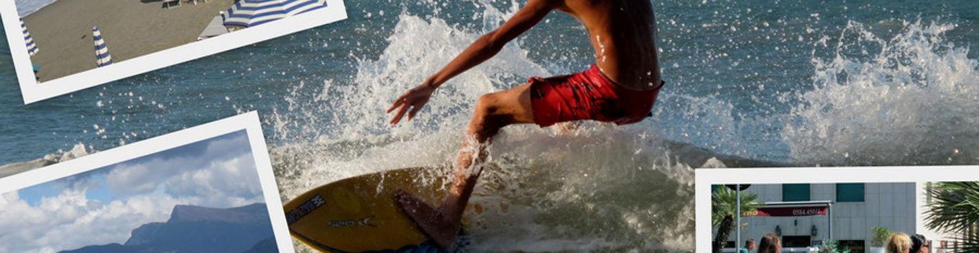 Школа сёрфинга в Италии