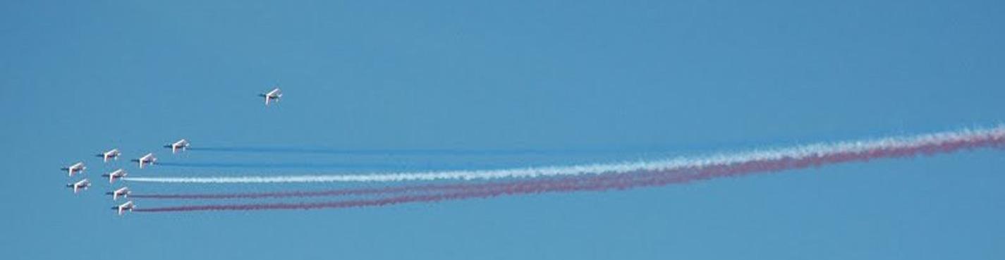 Просмотр авиашоу в честь дня флага РФ с крыши