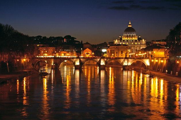 Экскурсия в Риме: Ночной Рим